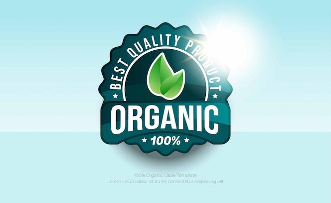 Rótulos de alimentos orgânicos ou produtos naturais