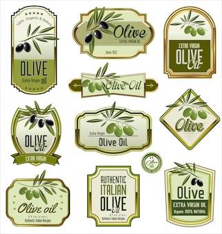 Rótulos de azeite verde