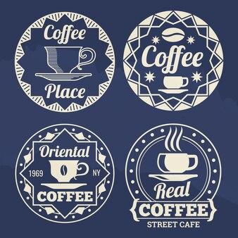 Rótulos de café elegante para café, loja, mercado