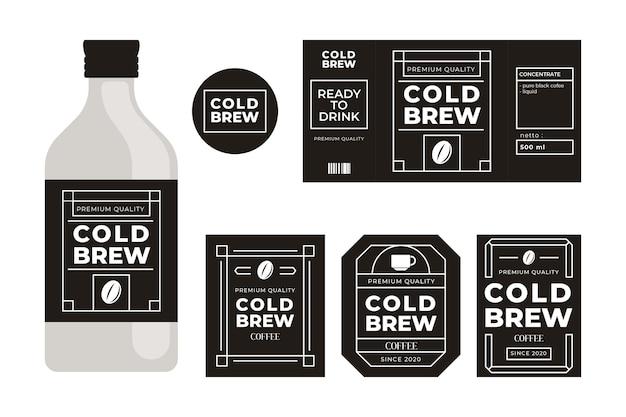 Rótulos de café fresco