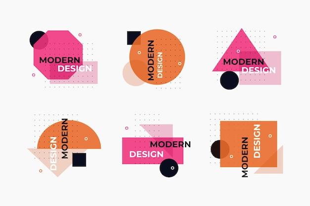 Rótulos de design gráfico de desenho geométrico