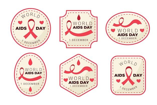 Rótulos de embalagens de aids para dias