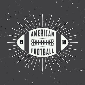 Rótulos de futebol americano, emblemas