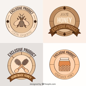 Rótulos de mel orgânico