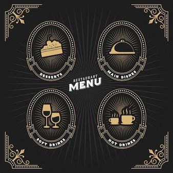 Rótulos de menu restaurant definir