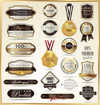 Rótulos de ouro de luxo