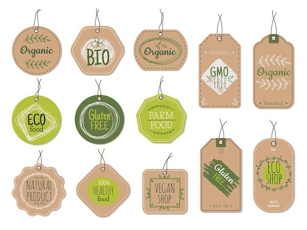 Rótulos de papelão orgânico
