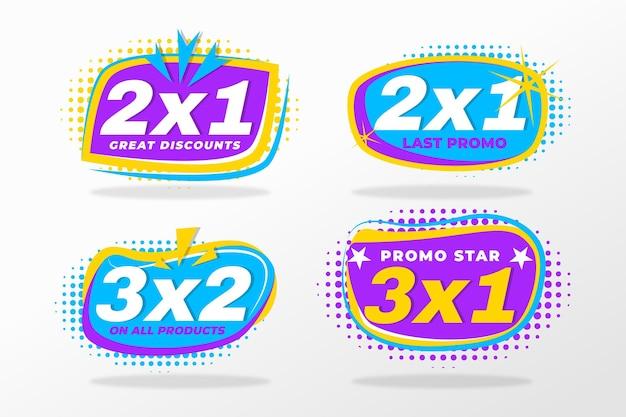 Rótulos de promoção 2x1