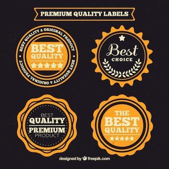 Rótulos de qualidade premium no projeto do vintage