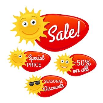 Rótulos de venda de verão