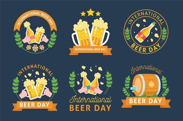 Rótulos do dia internacional da cerveja