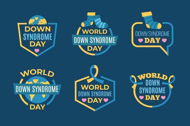 Rótulos do dia mundial da síndrome de down