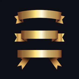 Rótulos dourados com moldura dourada sobre bege