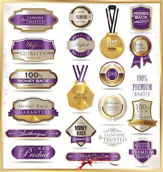 Rótulos dourados de luxo