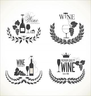 Rótulos para vinho com uvas