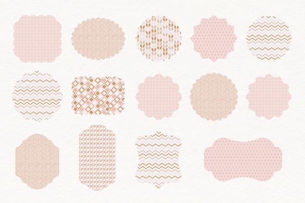 Rótulos pastel padronizados