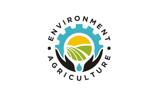 Round emblem / badge for agriculture design de logotipo da empresa