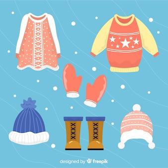 Roupa de inverno colorido