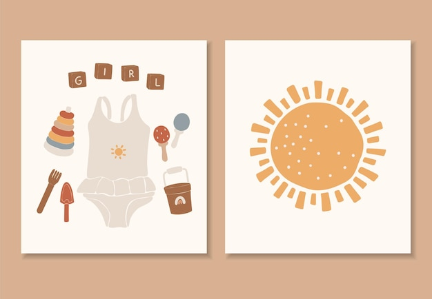 Roupas boho para bebês, brinquedos boho abstratos, brinquedos lindos e mínimos para crianças