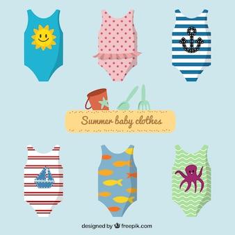 Roupas de bebê de verão