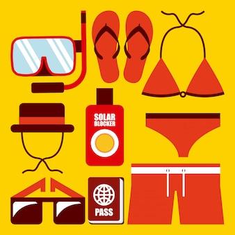 Roupas de design de natação