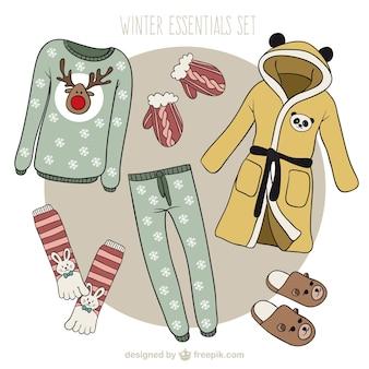 Roupas de inverno coleção de natal