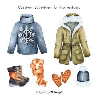 Roupas de inverno e fundamentos