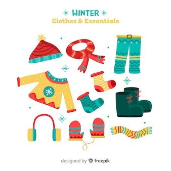 Roupas de inverno e pacote de essenciais