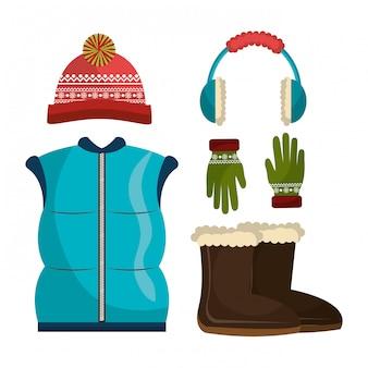 Roupas de inverno, roupas e acessórios