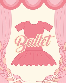Roupas de tutu rosa elegância de balé