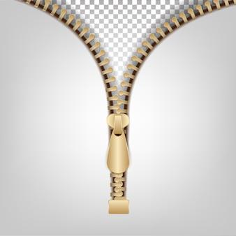 Roupas zipper isolado