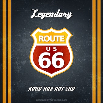 Route 66 badge