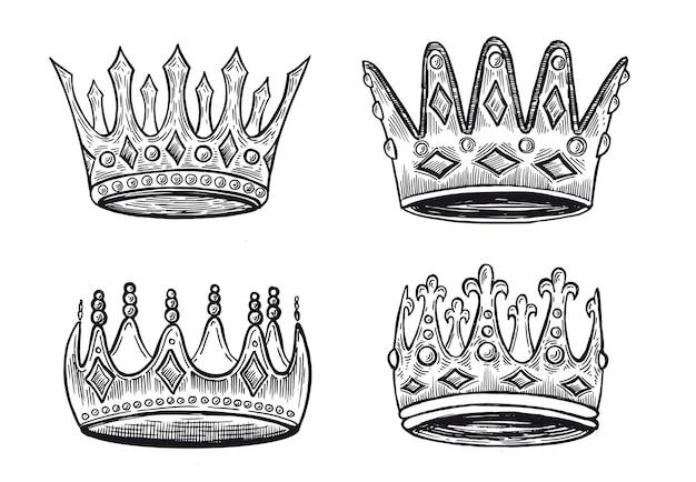 Rown of the collection ilustrações desenhadas à mão