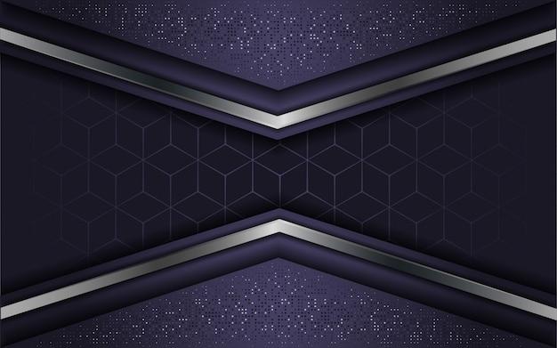Roxo de luxo abstrato com camada de sobreposição