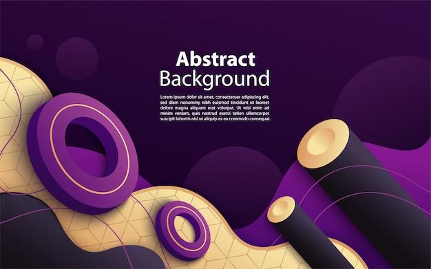 Roxo moderno e dinâmico com design de fundo de composição de forma abstrata