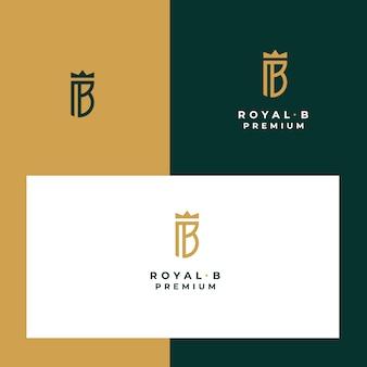Royal e luxo abstrato b carta logotipo