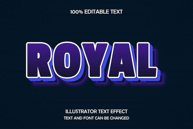 Royal, efeito de texto editável, magenta estilo retro
