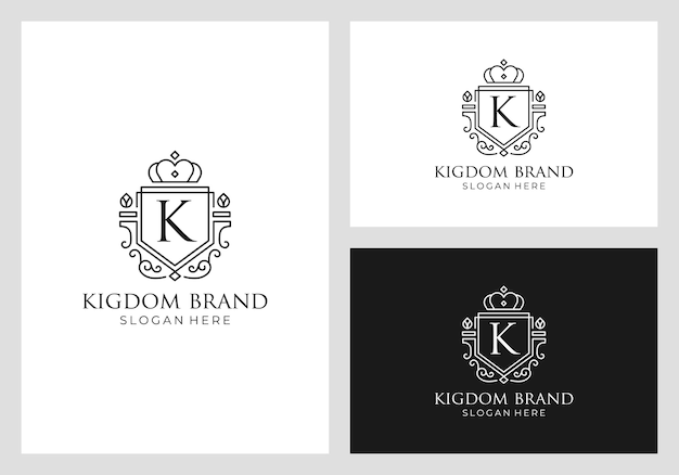Royal, império, reino logo design vector
