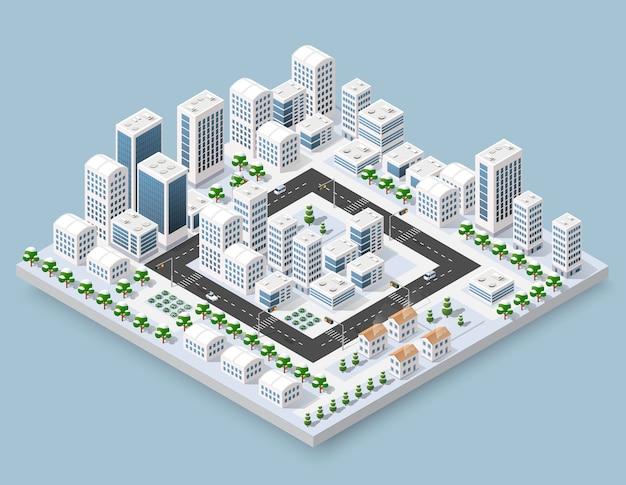 Rua da cidade de paisagem urbana
