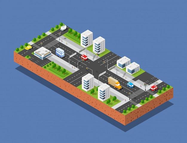 Rua de transporte urbano