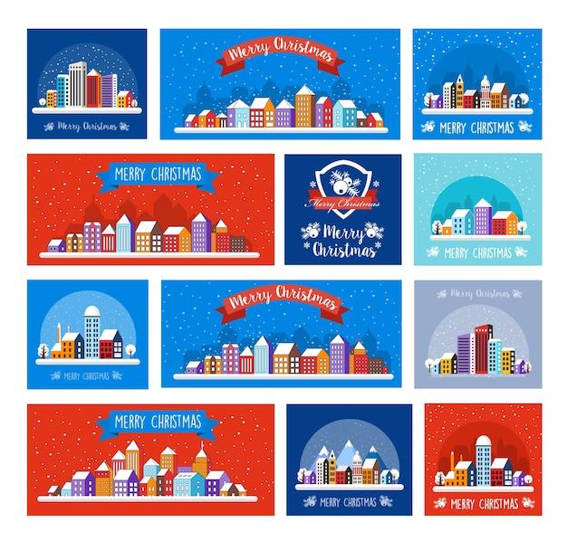 Rua do inverno do projeto da decoração do natal