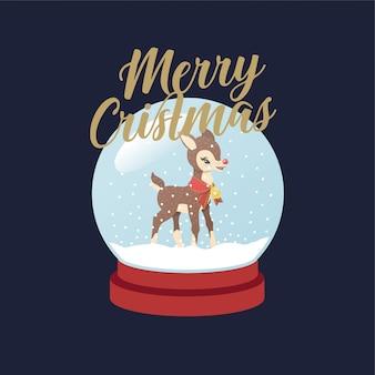 Rudolph bola de neve natal