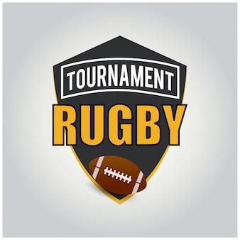 Rugby tournament logo american logo sport