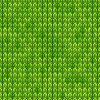 Ruído simples realista verde claro e escuro tricô padrão sem emenda. e também inclui