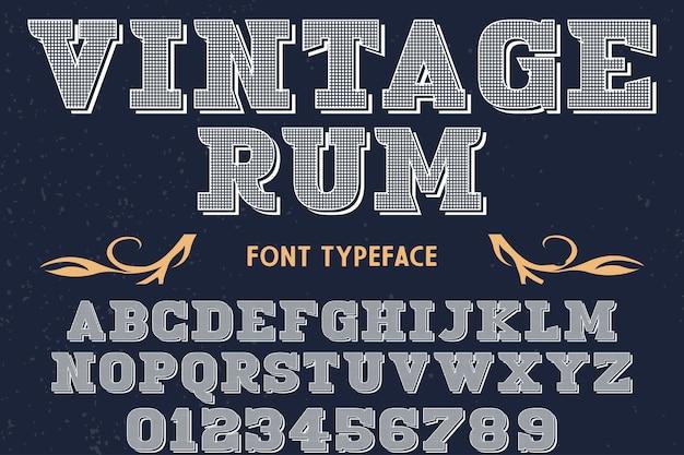 Rum de desenho de fonte tipografia vintage