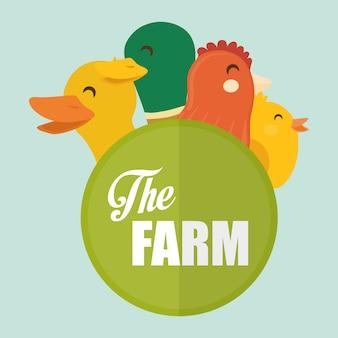 Rural e fazenda ícones