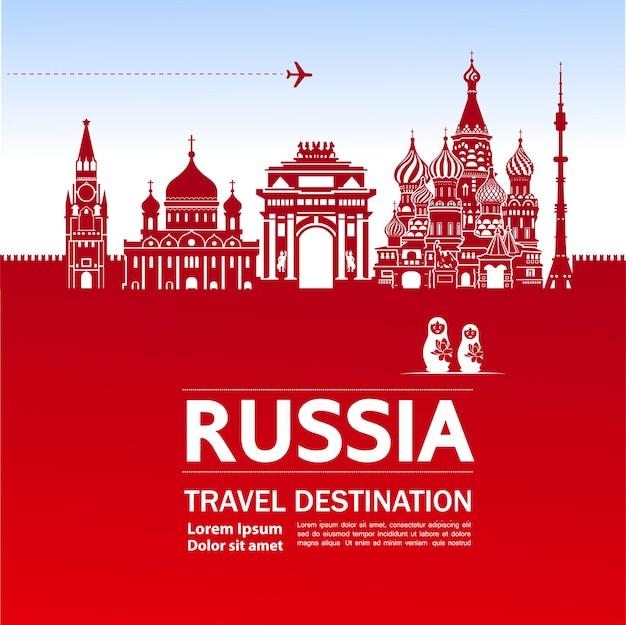 Rússia viajar destino grande ilustração.