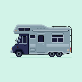 Rv camper trailer truck ilustração vetorial