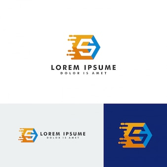 S carta logotipo modelo elemento vector illustration