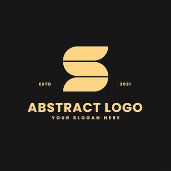 S carta luxuoso bloco geométrico ouro conceito logotipo vetor ícone ilustração